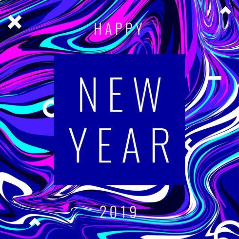 Guten Rutsch ins Neue Jahr Instagram-Pfosten-Marmoreffekt-Hintergrund-Spaß