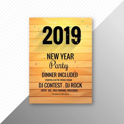 2019 nytt år fest broschyr fest design mall
