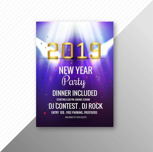 Elegant 2019 flyer celebration party template vector