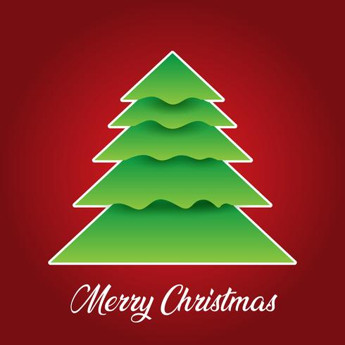 Jul bakgrund med träd design