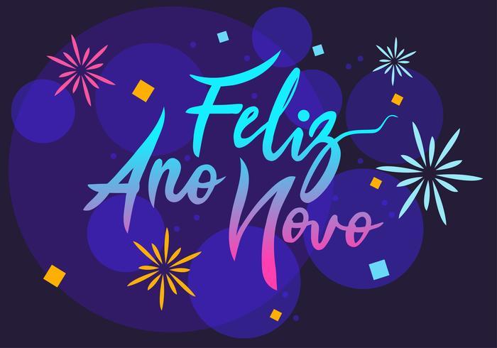 feliz ano novo Handbeschriftung