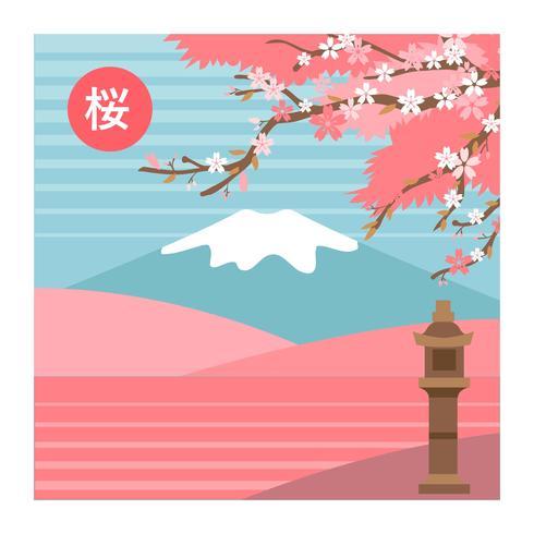 Flor de cerejeira floresce a paisagem da árvore