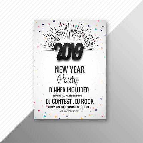 Modelo de celebração de folheto de festa de ano novo de 2019