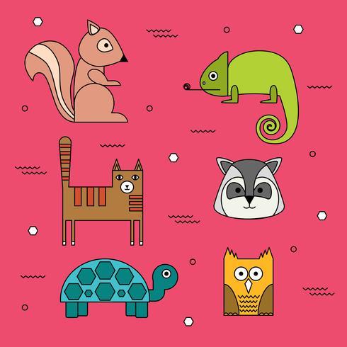 Vettore di animali forma geometrica