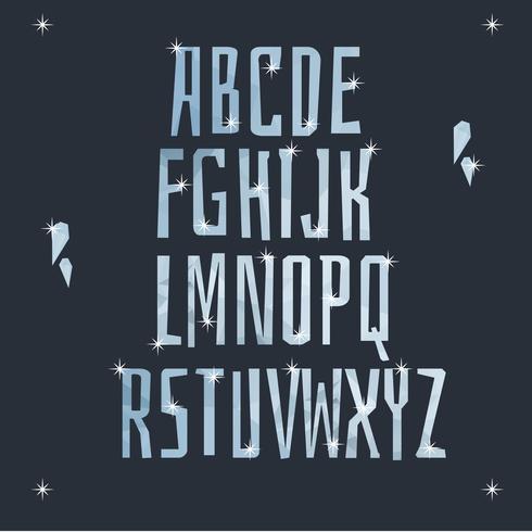Vecteur Alphabet Glacé