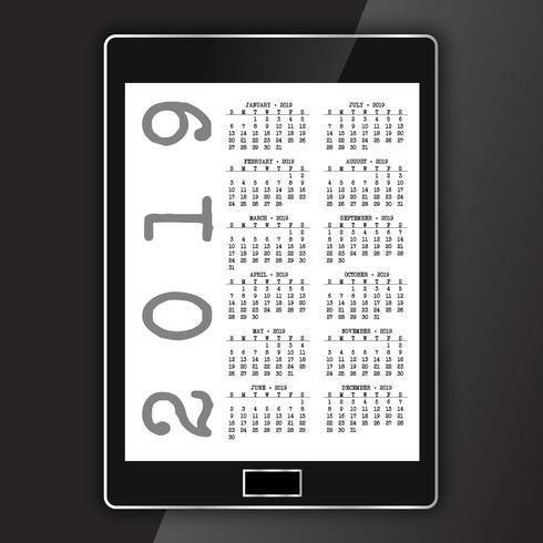 Kalender auf einem generischen elektronischen Tablet