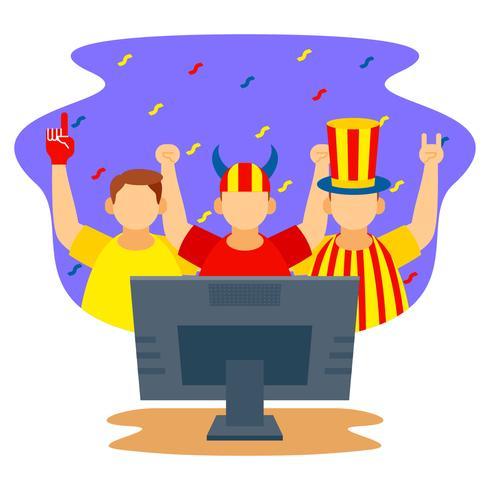 Celebração de festa de relógio de futebol