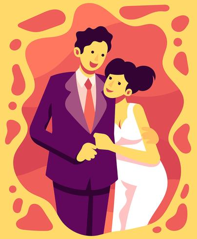 Paar in Formalwear Illustratie