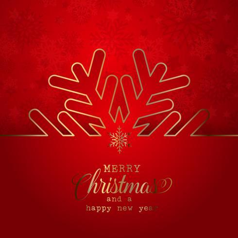 Fundo de Natal com design de floco de neve