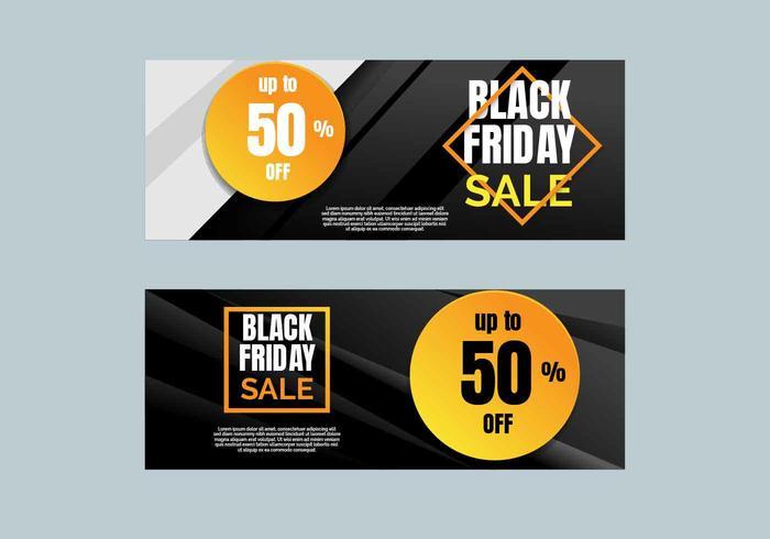Vetor de Banner de venda de sexta-feira negra