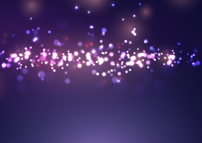 Lumières de bokeh de Noël
