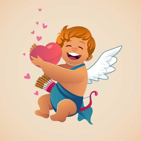 Cupid With Love vector