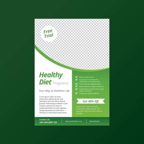 Gesunder Diät-Lebensstil-Flyer