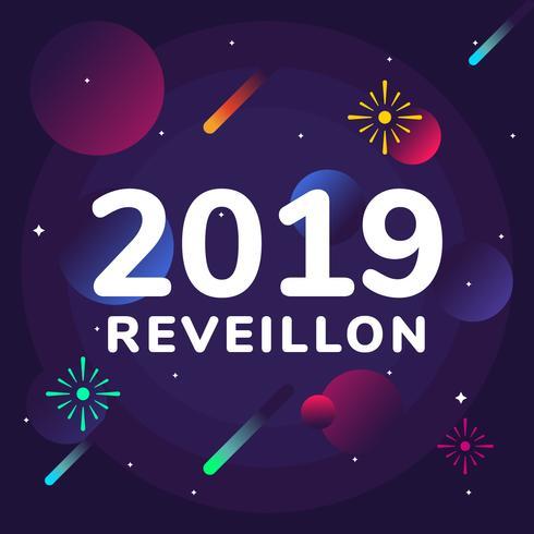 Reveillon Vector Background