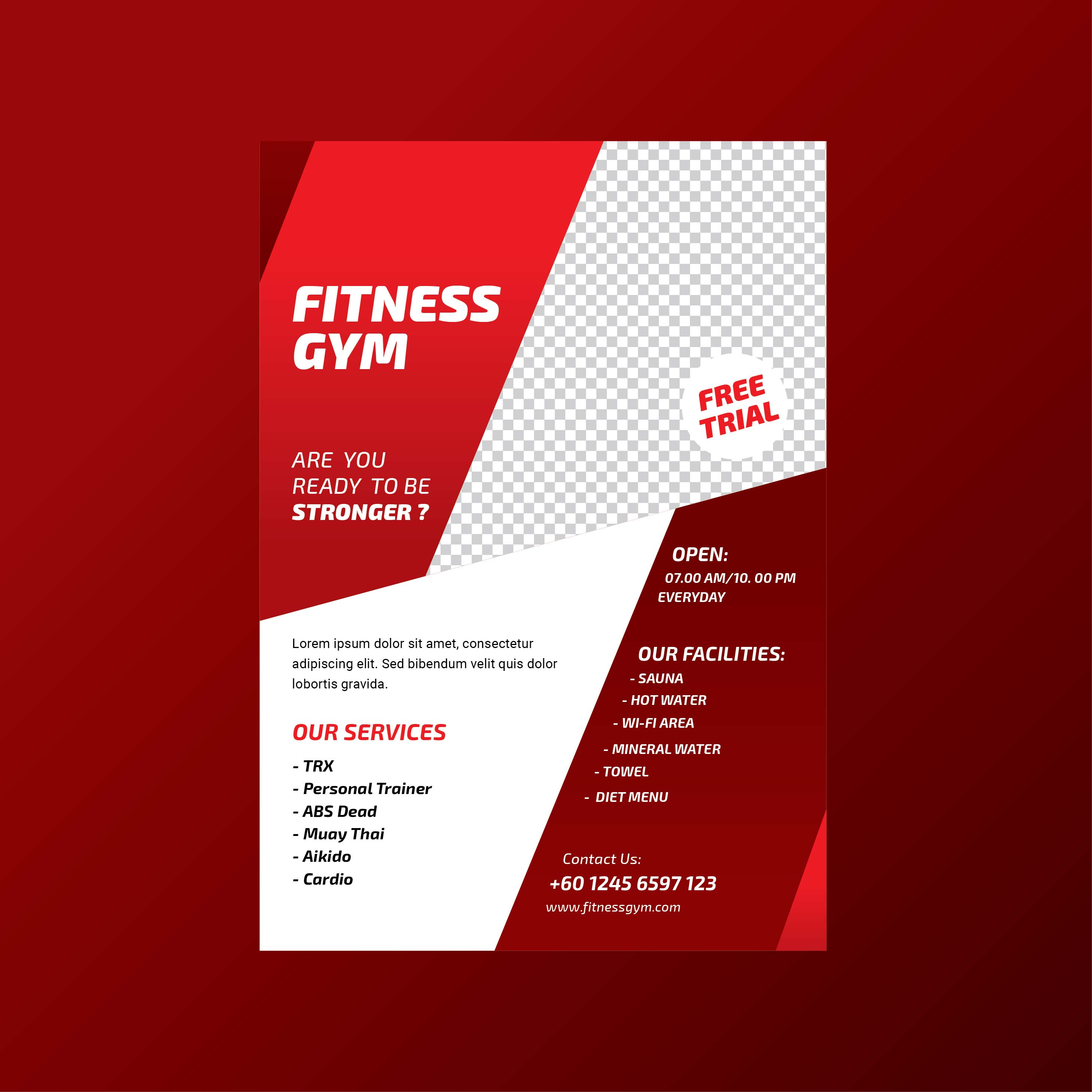 Fitness Gym Health Lifestyle Flyer Template Download Free Vector
