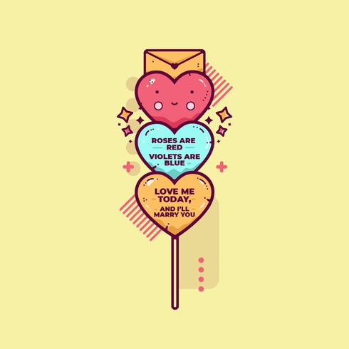 Valentine Candy Hearts-Vektor