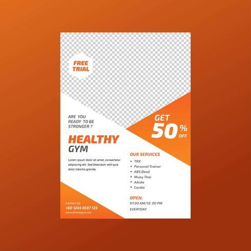 fitness gym hälsa flygblad mall
