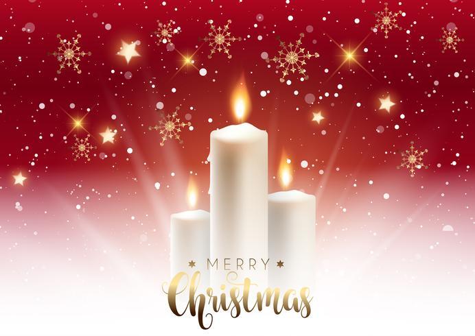 Sfondo di candela di Natale