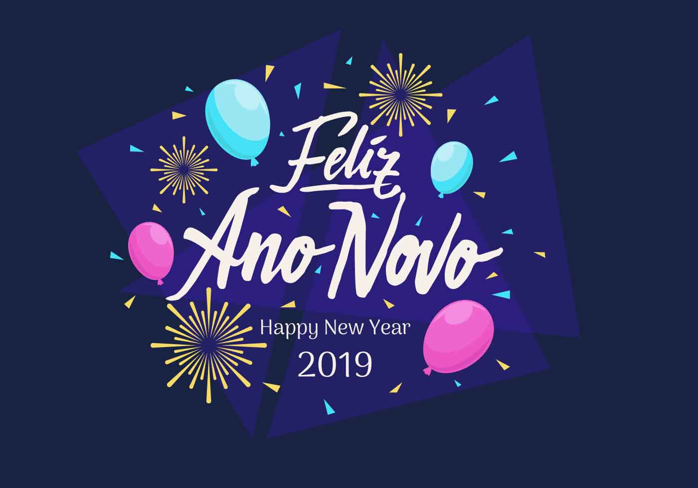 Feliz Ano Novo Hand Lettering Vector Download Free