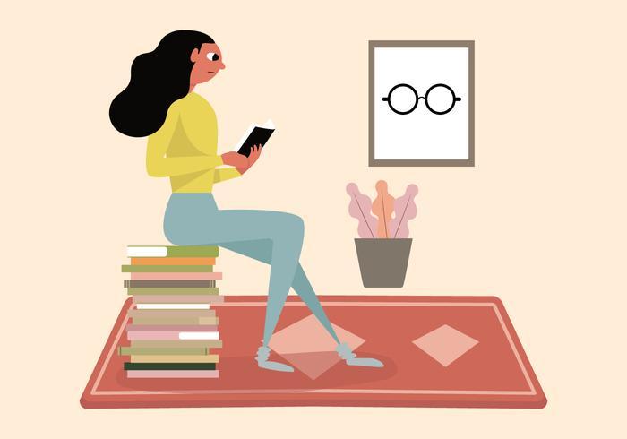 Meisje leesboek