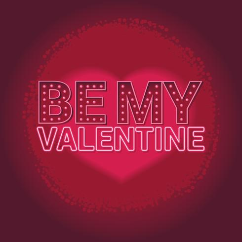 Be My Valentine Neon Text - Download Free Vectors, Clipart
