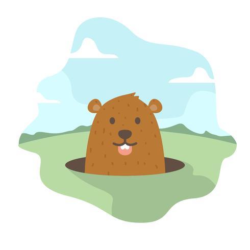 Groundhog vectorillustratie
