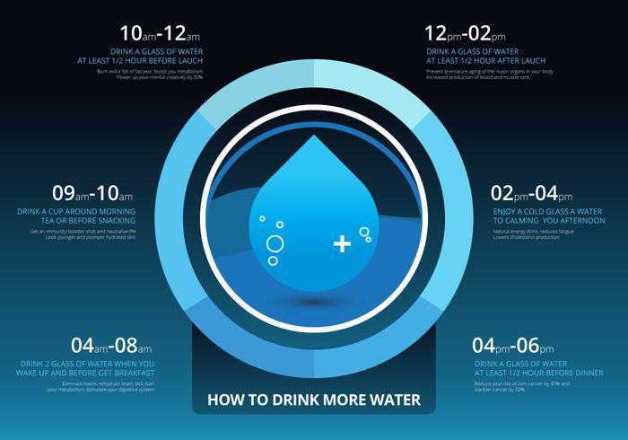 Hoe Water Infographic Drinken