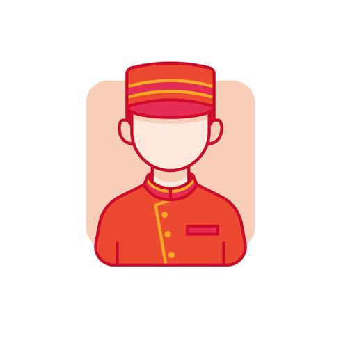 Bellhop avatar illustratie