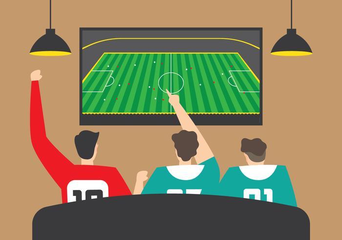 Zusammen Fußball gucken