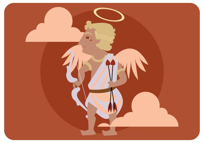 Cupido in Ancient Wayang Vector