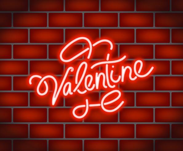 Ilustración de neón de San Valentín