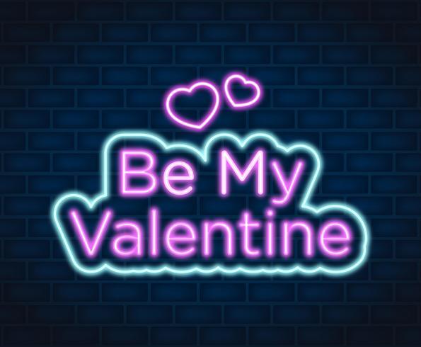 Neon Valentine-illustratie