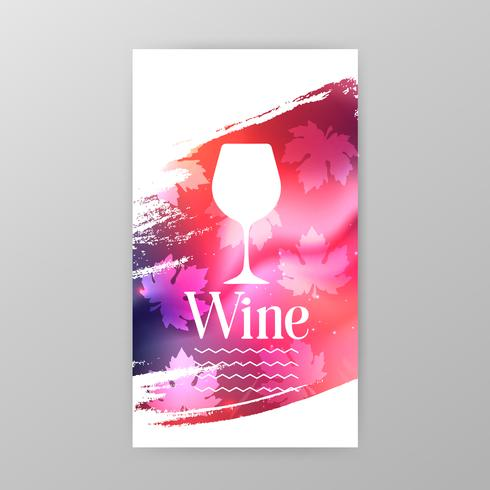 Banner de promoción de la copa de vino para el evento de cata de vinos.