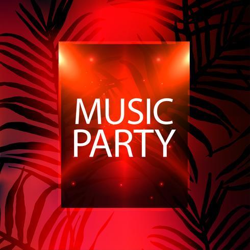 Muziek partij poster, partij flyer sjabloon vectorillustratie