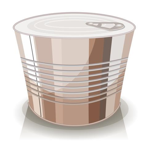 Cartoon Food Tin Can vector