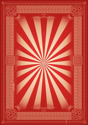Weinlese-Retro- Hintergrund mit keltischen Mustern vektor