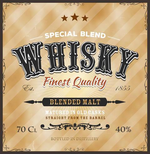 Whisky-Label für die Flasche
