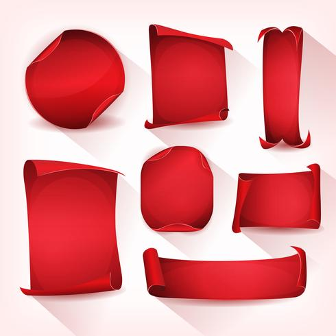 Roter Zirkus-Pergament-Rollensatz vektor