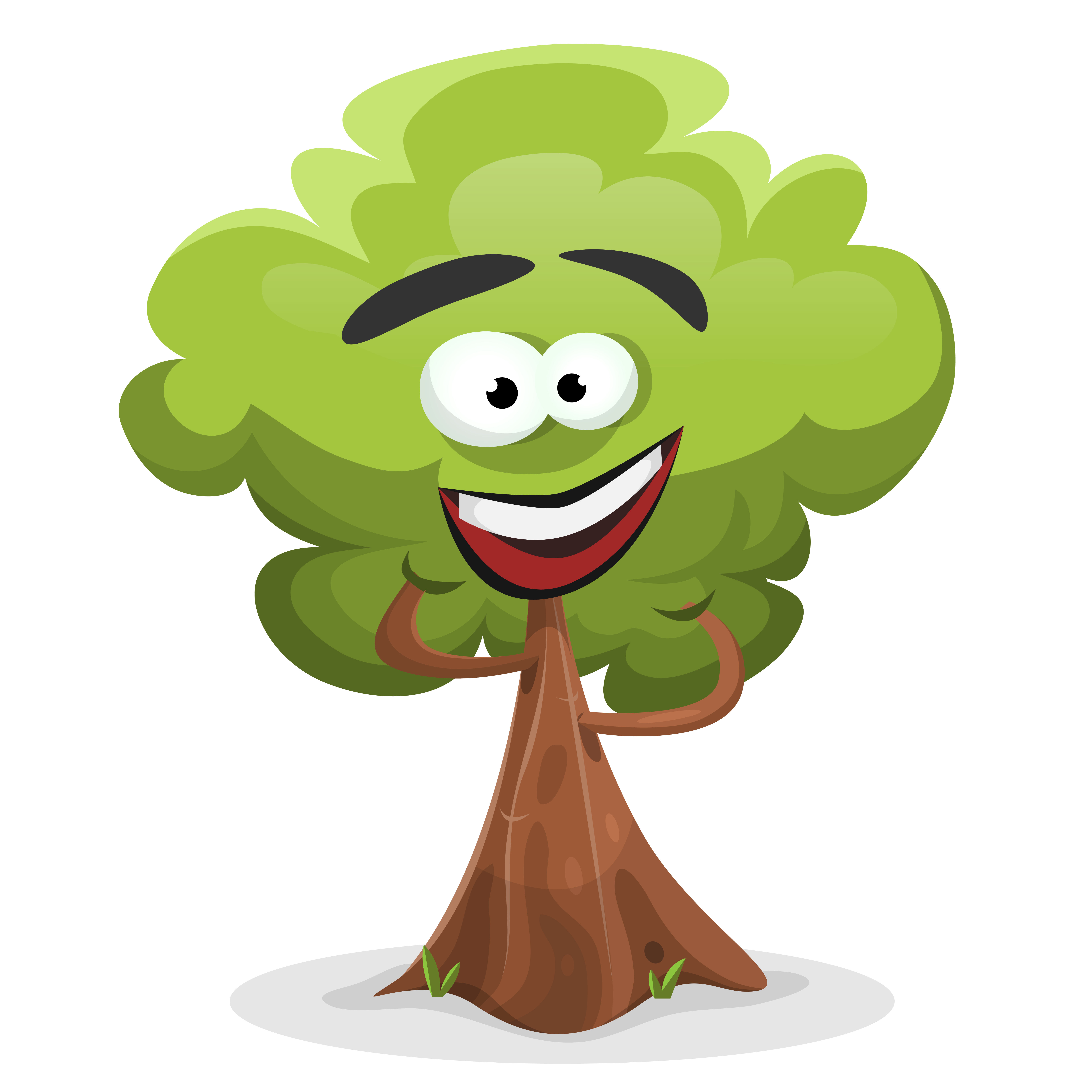 Funny Cartoon Tree Character - Download Free Vectors ...
