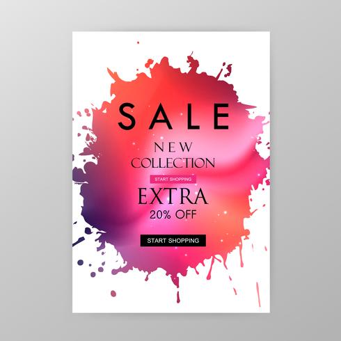 Sale website banner vector
