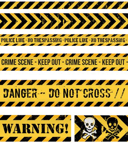 Police Line, Crime And Warning Seamless Tapes vector