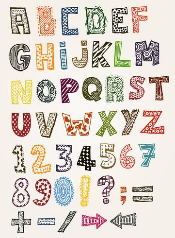 Doodle Fantaisie ABC Alphabet