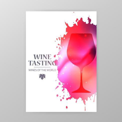 Wijnglazen promotiebanner voor wijnproeverijen