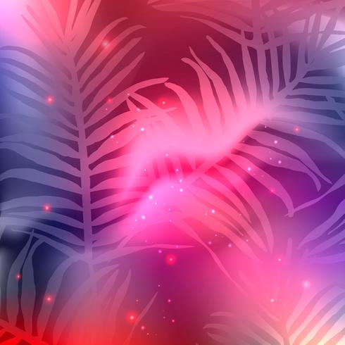 Plantilla de fondo de hojas coloridas