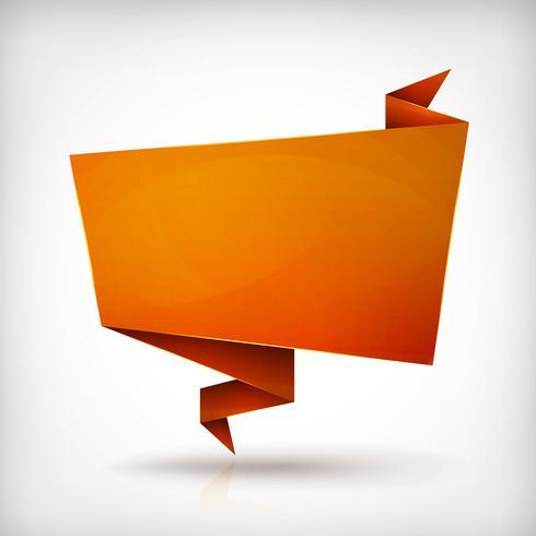 Origami-papierbanner