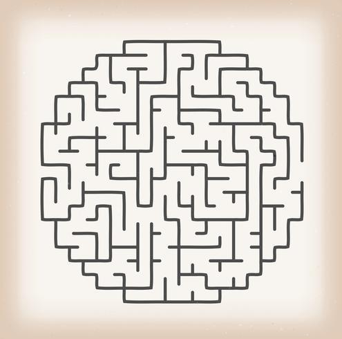 Maze Game På Vintage Bakgrund vektor