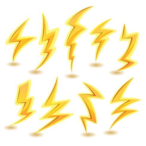 Lightning Bolts Set vector