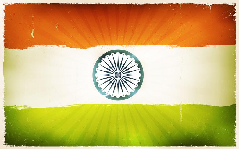 Vintage India vlag Poster achtergrond