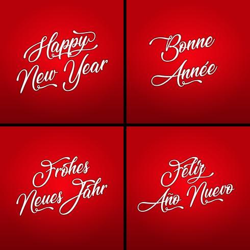 Feliz año nuevo en varios idiomas