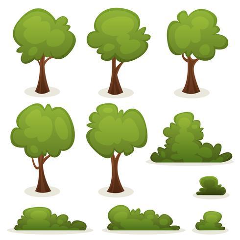 Set de árboles, setos y arbustos